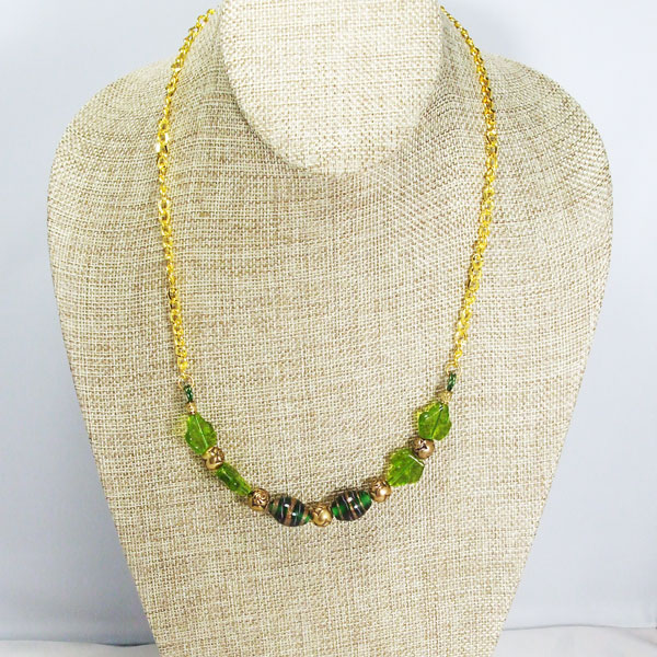 Zaira Beaded Wire Design Necklace relevant front view