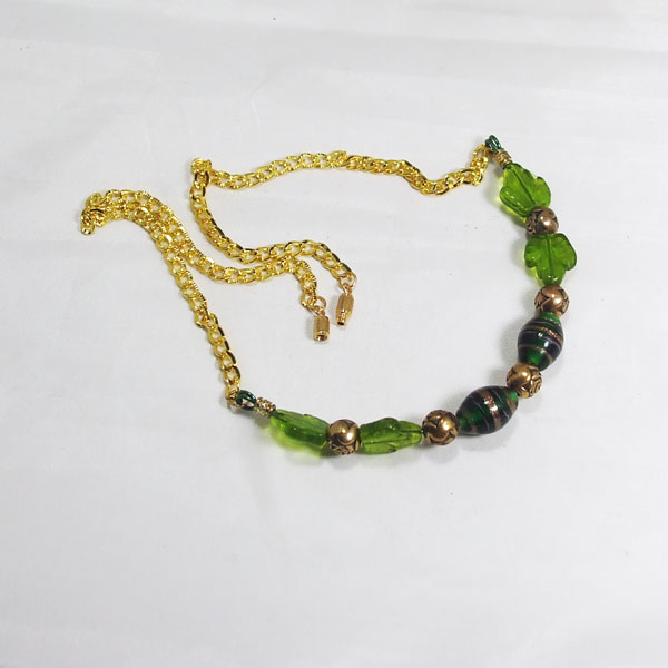 Zaira Beaded Wire Design Necklace flat view