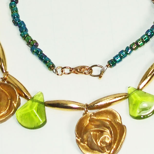 Acquilina Beaded Costume Necklace clasp view