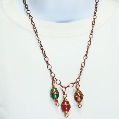 Questa Beaded Jewelry Necklace relevant front view