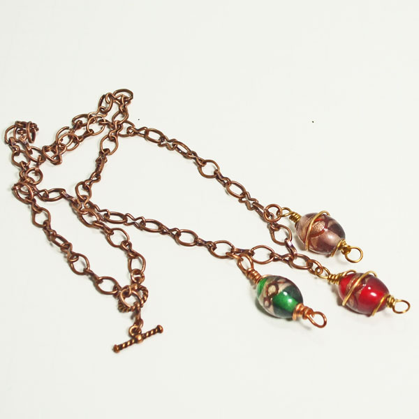 Questa Beaded Jewelry Necklace flat view