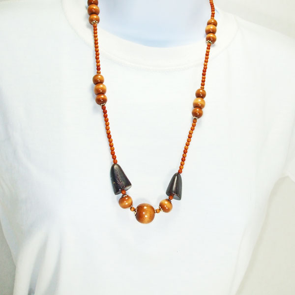 Uriel Beaded Jewelry Necklace relevant front view