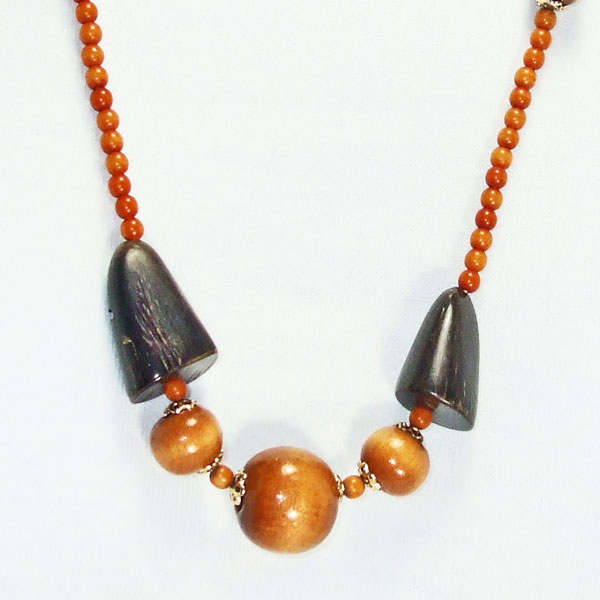 Uriel Beaded Jewelry Necklace blow up view