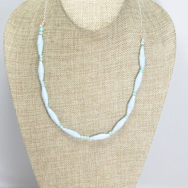 Xamuela Paper Beaded Necklace relevant view front