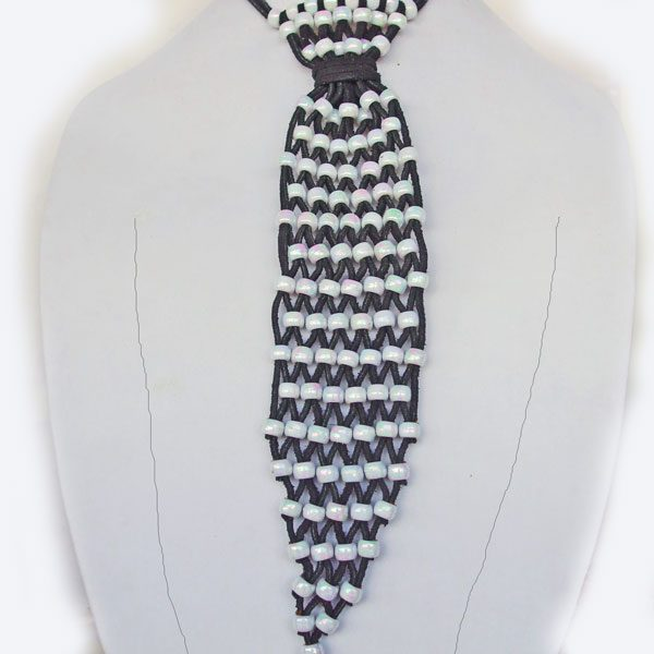 Beaded Leather Necktie Necklace relevant view