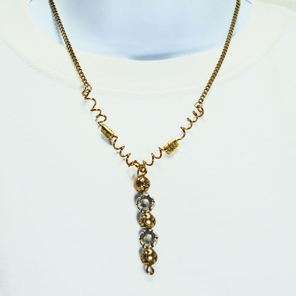 Urika Beaded Jewelry Necklace relevant front view