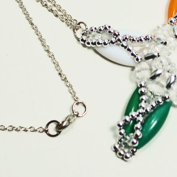 Xarina Beaded OES Star Pendant Necklace clasp view