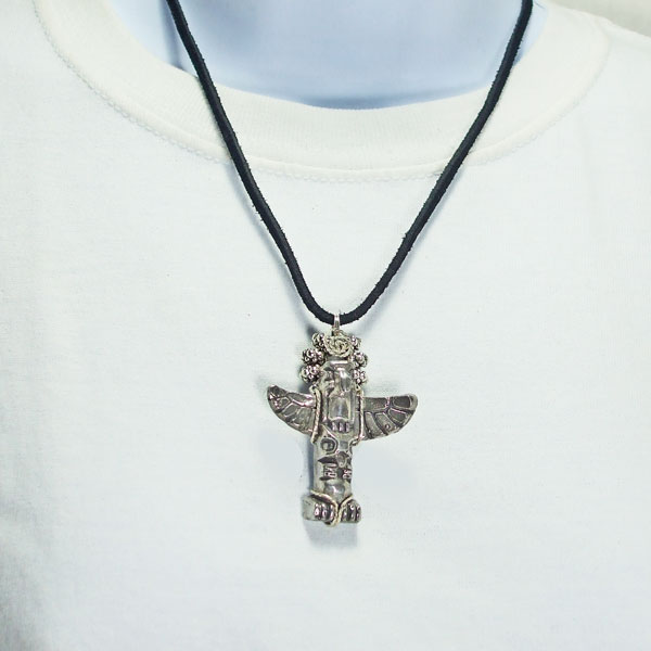 Farida Totem Charm Jewelry Pendant Necklace close up view