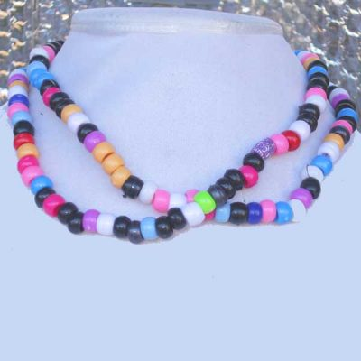 Lee Lee Beauty No 1- Pony beads wrap around necklace