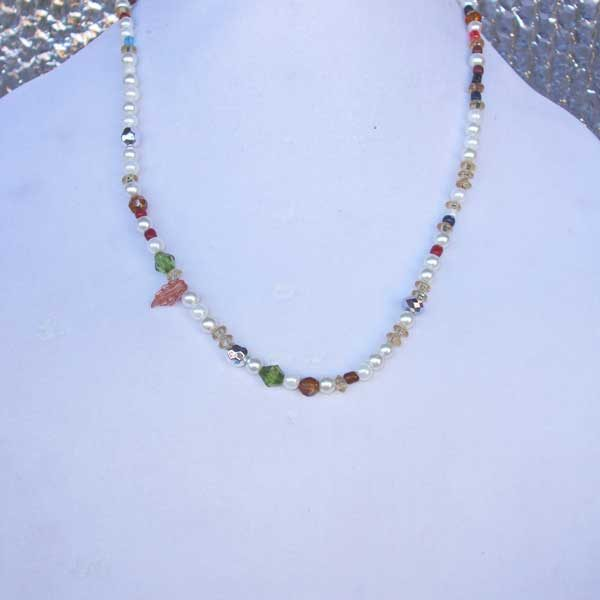 Lee Lee Beauty No 6 - long beaded necklace of various colors.