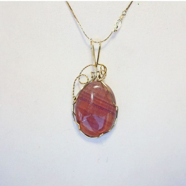 Fluorite Mineral Pendant relevant view