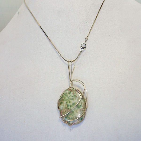 Arizona Serpentine Mineral Pendant relevant view