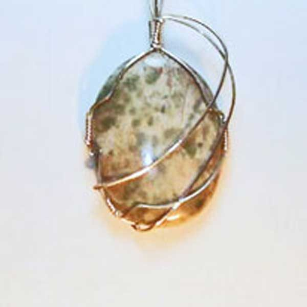 Arizona Serpentine Mineral Pendant close up view