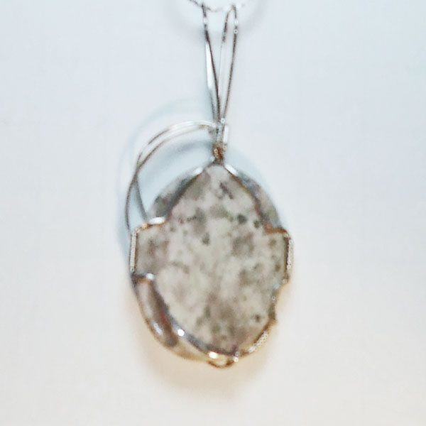 Arizona Serpentine Mineral Pendant back view