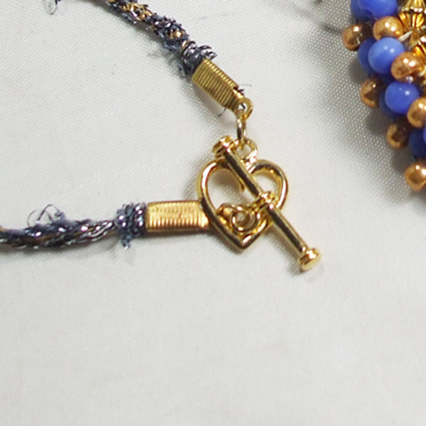 Raelene Bead Embroidery Pendant Necklace clasp view