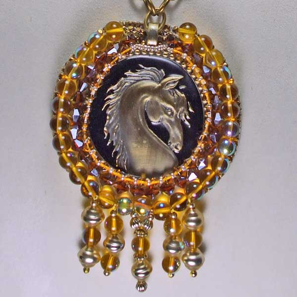 Horse Head Cameo close up view