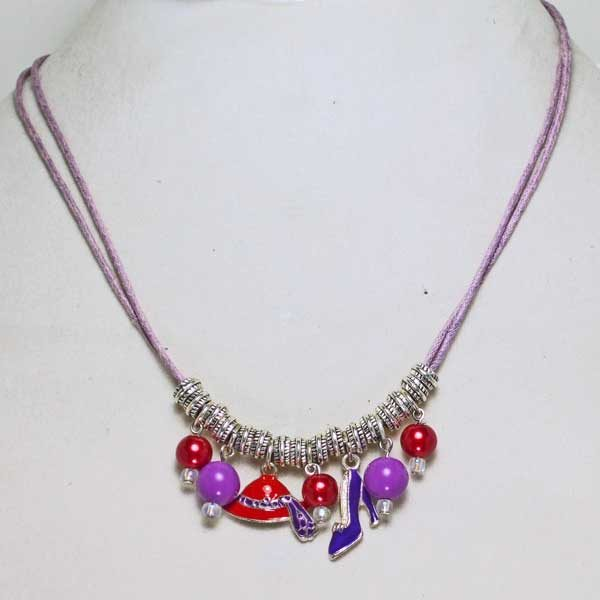 Red Hat Necklace front view