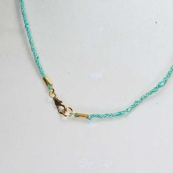 Cat Eye mineral Necklace clasp view