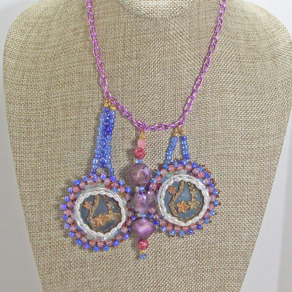 Vail New Spring Flowers Necklace front close view