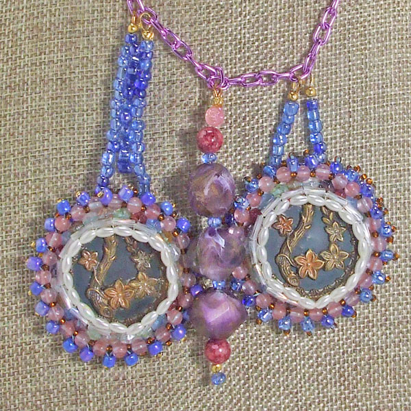 Vail New Spring Flowers Necklace front bug eye view