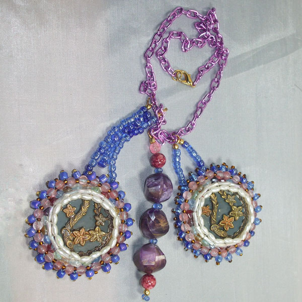 Vail New Spring Flowers Necklace flat view