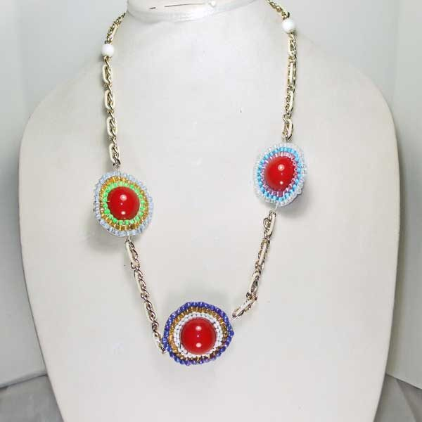 Three Heavenly Planets Necklace relevant view