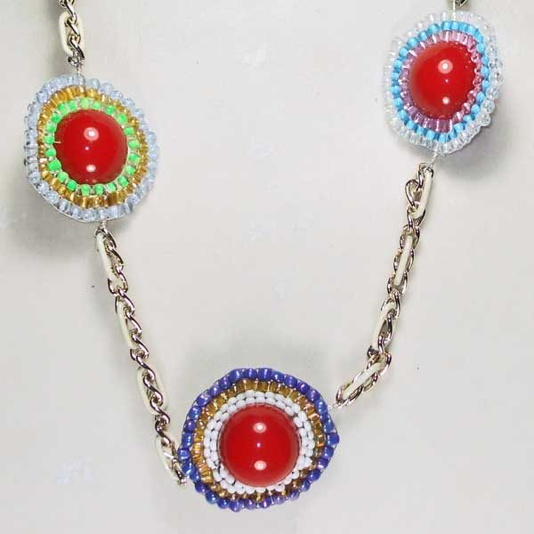 Three Heavenly Planets Necklace close up view