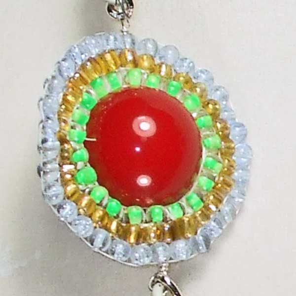 Three Heavenly Planets Necklace eye ball view 2
