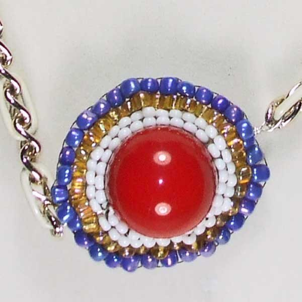 Three Heavenly Planets Necklace eye ball view 3