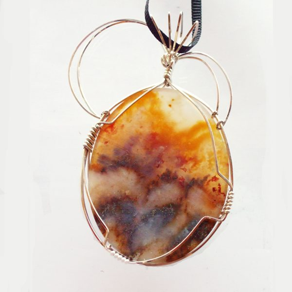 Grave Yard Point Cabochon Pendant showing back side