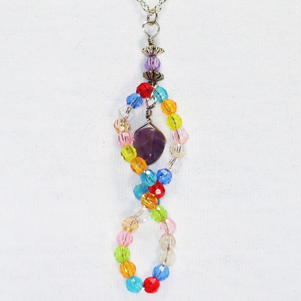 Uriana OES Beaded Costume Jewelry Necklace blow up view
