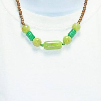 Iesha Beaded Costume Jewelry Necklace relevant front view