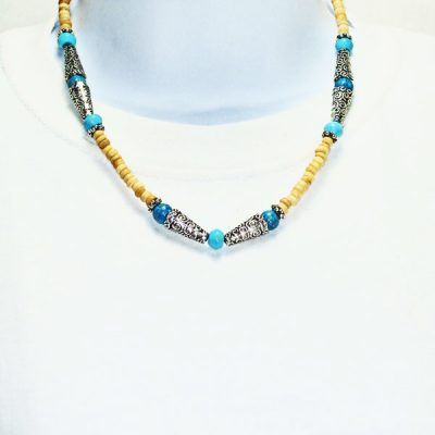 Kahli Beaded Costume Jewelry Necklace relevant front view